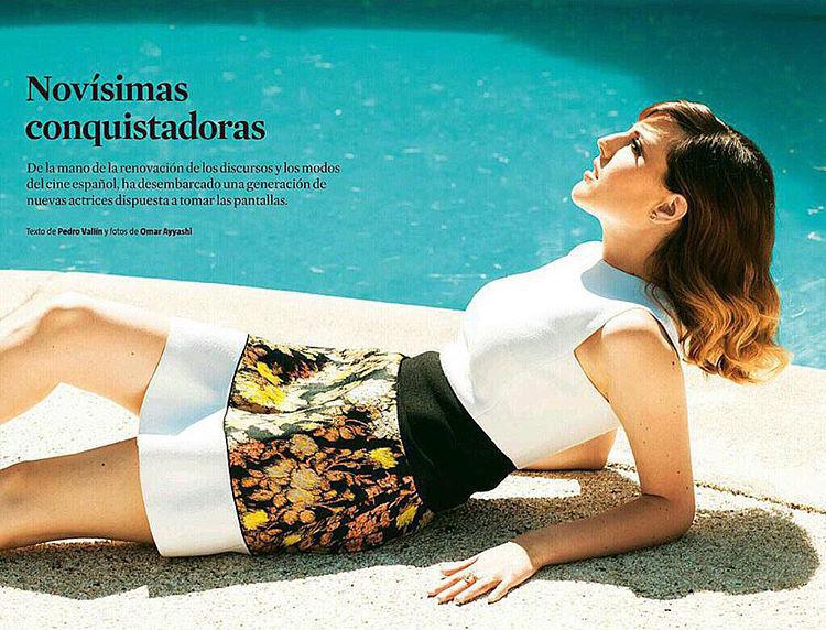 Natalia de Molina en el Magazine de La Vanguardia con texto de Pedro Vallín y fotos de Omar Ayyashi.