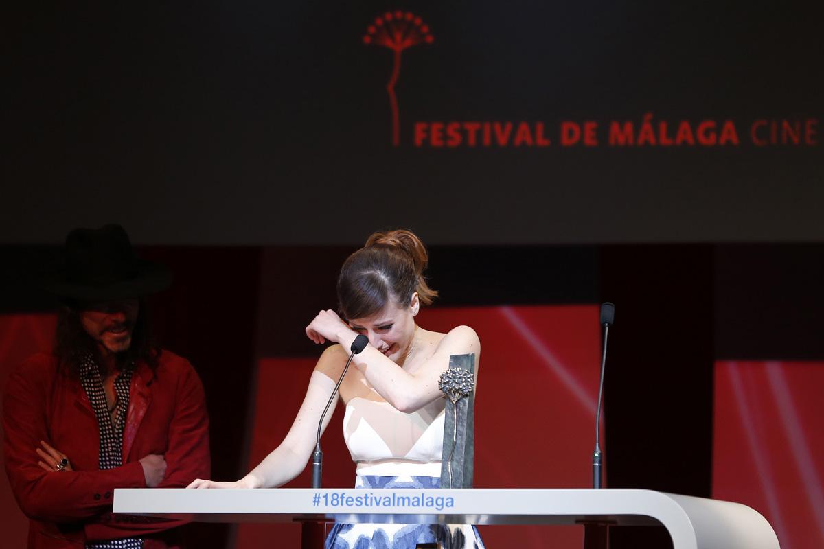 Natalia de Molina ganadora de la Biznaga de Plata Mejor Actriz por Techo y comida