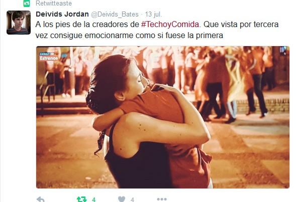 Comentarios en Twitter de Techo y comida en Movistar +